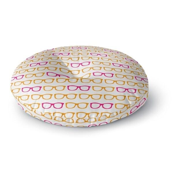 Kavka Designs Sunshine Pink/Orange Floor Pillow