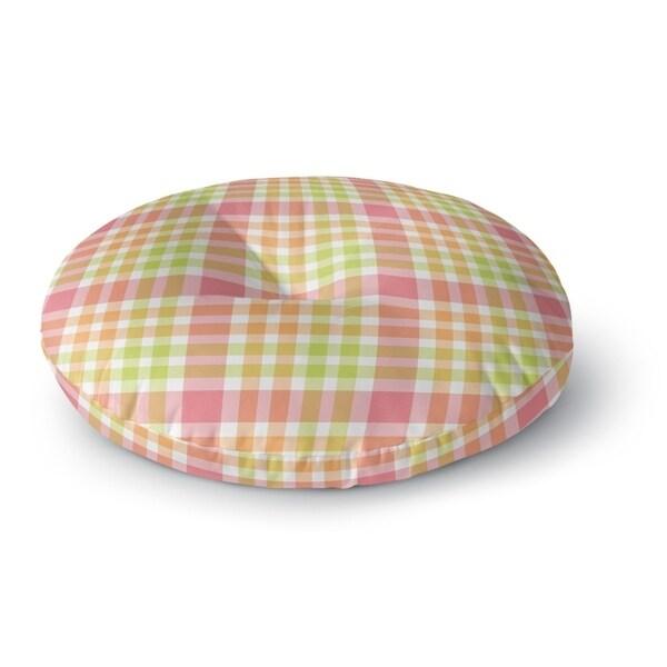 Kavka Designs Christmas Plaid Green/Pink/Orange Floor Pillow