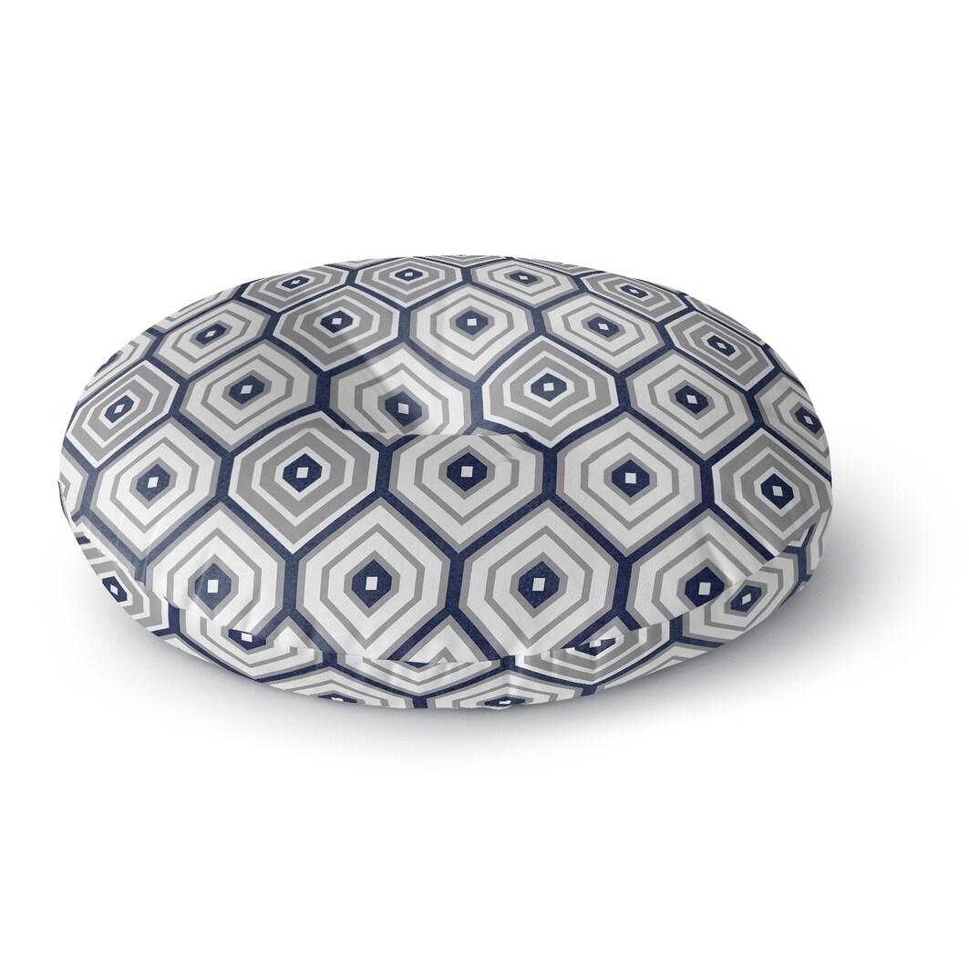 Kavka Designs Honey Boo  Grey/Blue Floor Pillow (Square - 23 x 23)