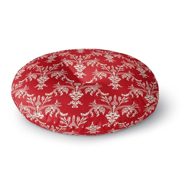 Kavka Designs Christmas In Plaid Red/Ivory Floor Pillow