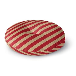Kavka Designs Red Stripes  Red/Ivory Floor Pillow