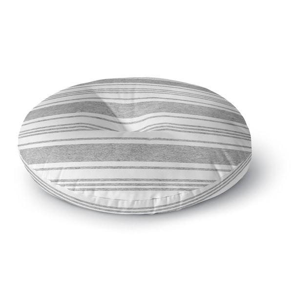 Kavka Designs Cummaquid Grey/White Floor Pillow