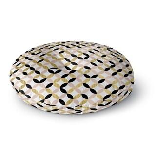 Kavka Designs Gold Black Pink And White  Pink/Gold/Black/White Floor Pillow