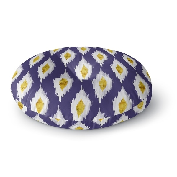 Kavka Designs Beach Bingo Blue Floor Pillow