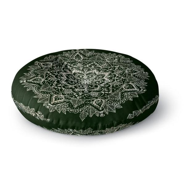 Kavka Designs Mandala Green/Ivory Floor Pillow
