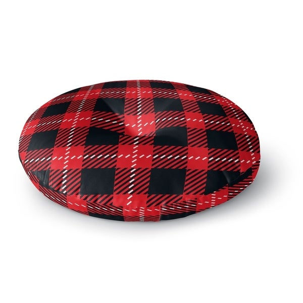 Kavka Designs Christmas In Plaid Red/Black Floor Pillow