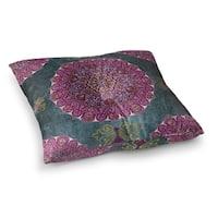 Kavka Designs Ells  Grey/Purple/Blue Floor Pillow