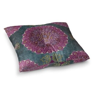 Kavka Designs Ells Grey/Purple/Blue Floor Pillow