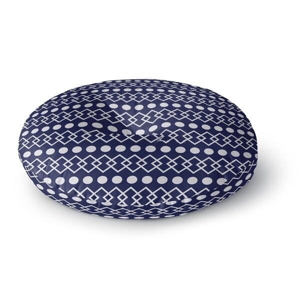 Kavka Designs Chains + Dots Blue/White Floor Pillow