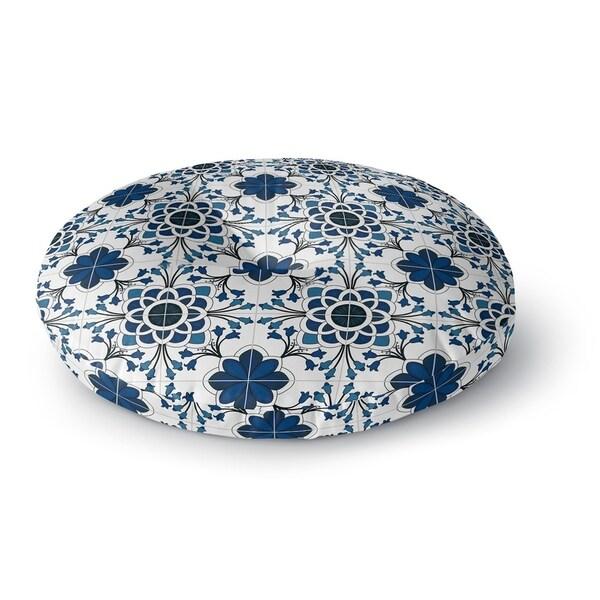 Kavka Designs Truro Blue/White Floor Pillow