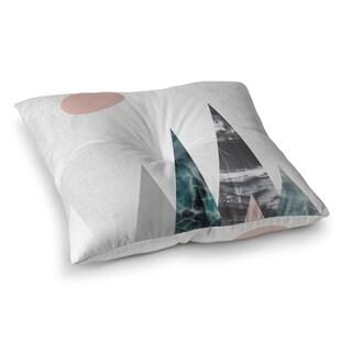 Kavka Designs Mountains Pink/Blue/Green/Ivory Floor Pillow