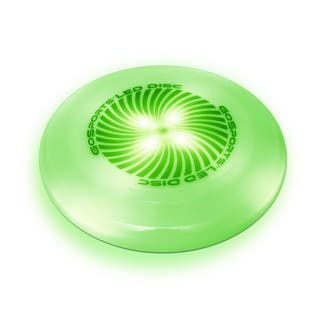 GoSports LED Flying Disc, 175 grams, with 4 LEDs, Green|https://ak1.ostkcdn.com/images/products/18096980/P24254718.jpg?impolicy=medium