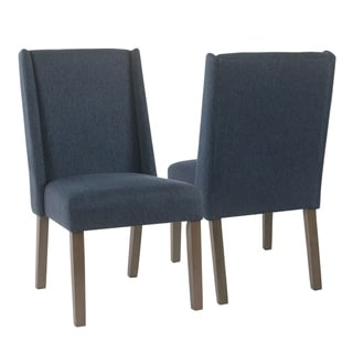 Link to HomePop Dinah Modern Navy Dining Chairs (Set of 2) Similar Items in As Is