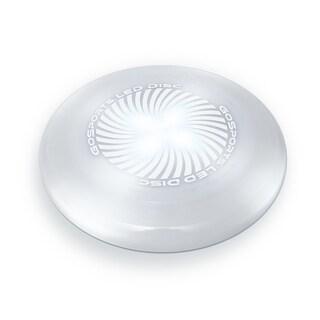 GoSports LED Flying Disc, 175 grams, with 4 LEDs, White