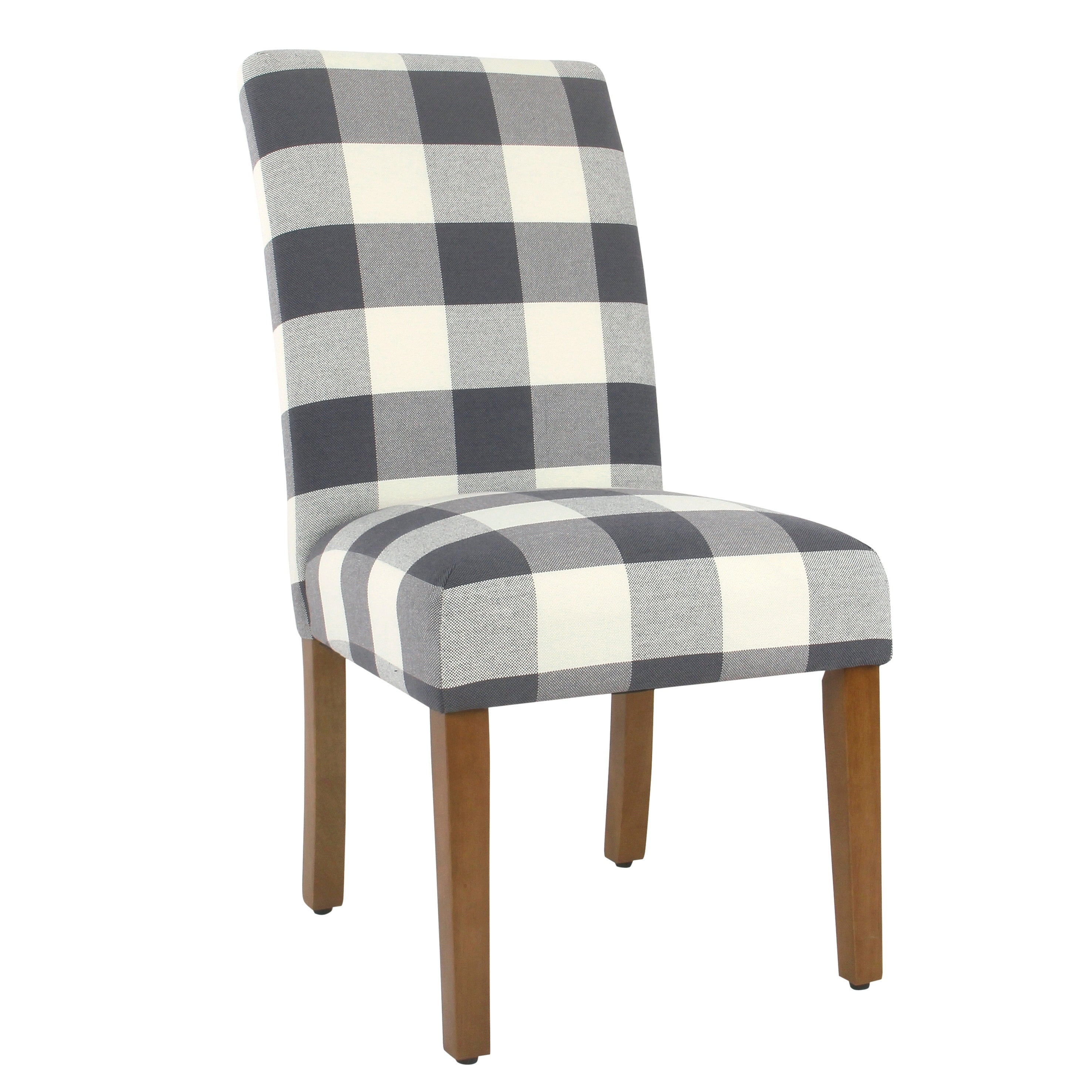 Homepop Parsons Dining Chair Blue Plaid Set Of 2