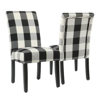 HomePop Parsons Dining Chair - Black Plaid (set of 2)