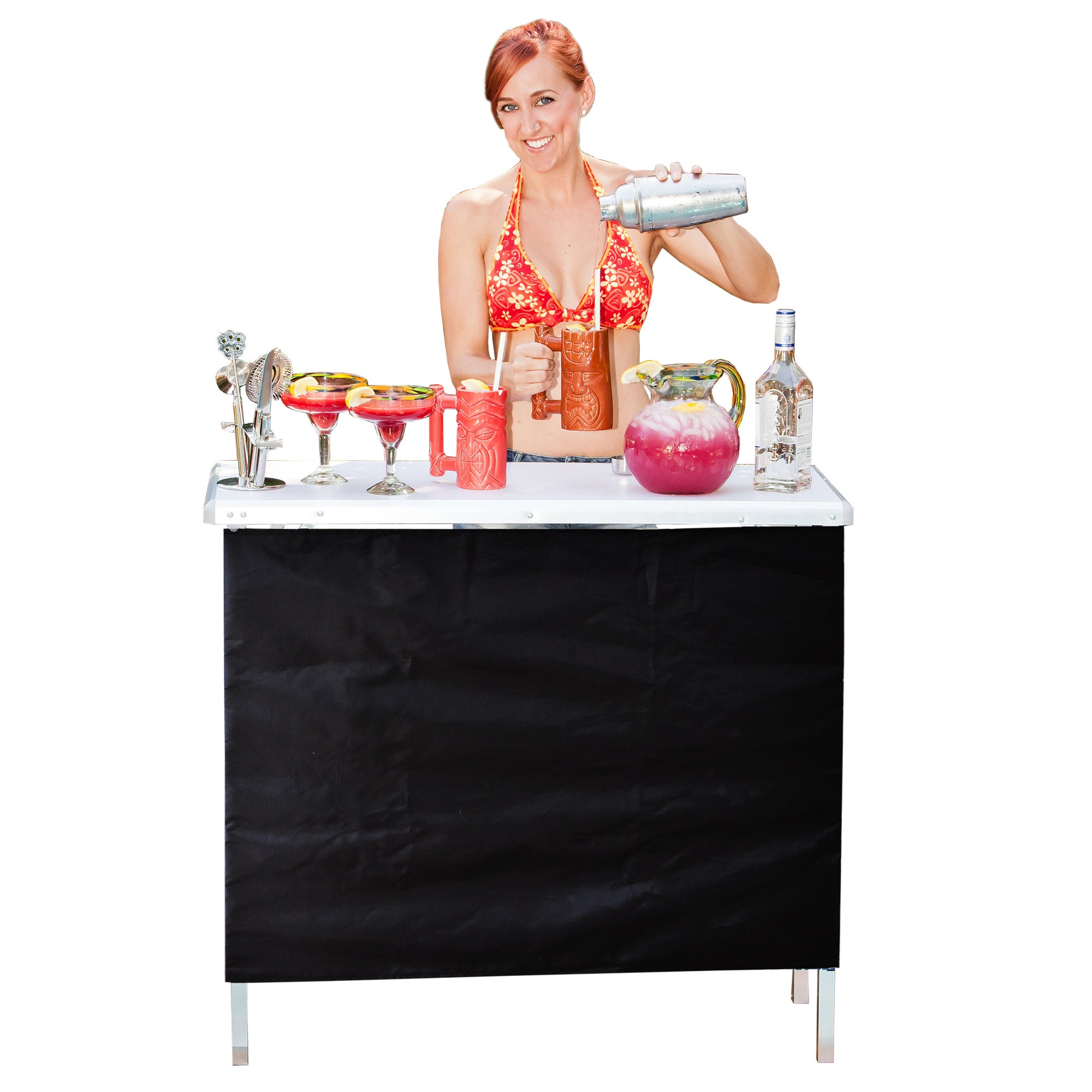 P&P GoPong Portable High Top Party Bar, Includes 3 Front ...