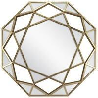 "28"" Dimensional Octagonal Framed Mirror"