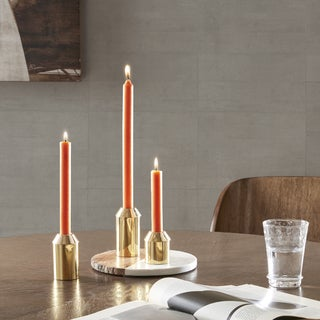 INK+IVY Sidney Gold Candle Stand Set of 3