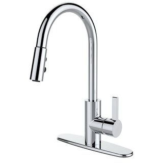 Single Handle Pull-down Deck Mounted Kitchen Faucet Chrome Finish (As Is Item)