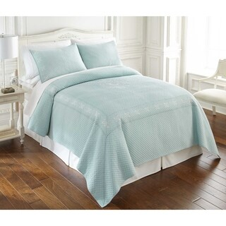 Lenox French Perle 100 Percent Cotton Enzyme Washed 3 Piece Quilt Sets