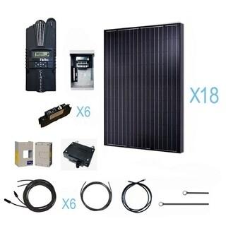 Renogy 4500 Watt 48 Volt Monocrystalline Solar Cabin Kit