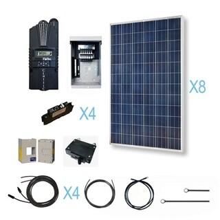 Renogy 2400 Watt 24 Volt Polycrystalline Solar Cabin Kit