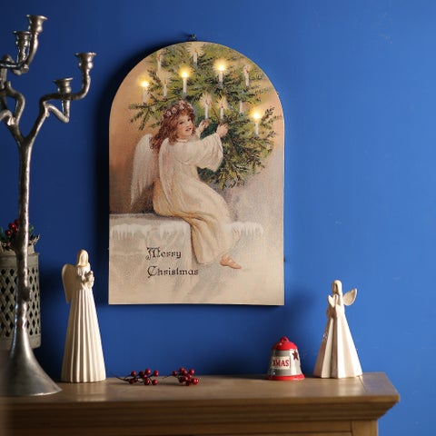 Angel Canvas Print with LED Light