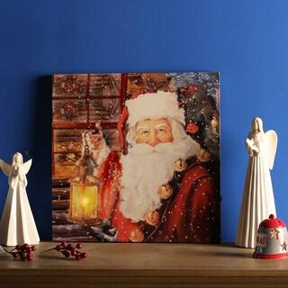 Santa Canvas Print with LED Light