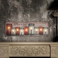 Christmas Candles Canvas Print with LED Lights