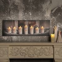 Family Candles Canvas Print with LED Lights