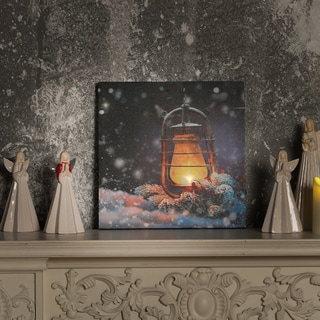 Lantern Canvas Print with LED Lights