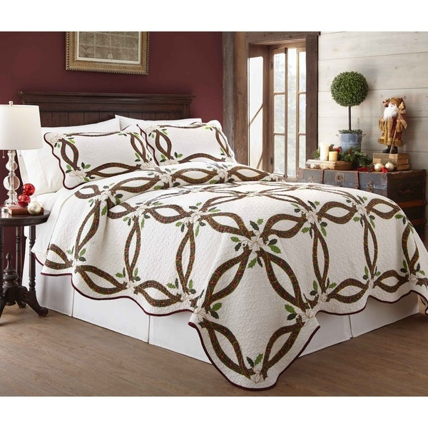 61c805c80fd2 Shop Lenox Holiday Nouveau 100 Percent Cotton 3 Piece Quilt Sets - On Sale  - Free Shipping Today - Overstock - 18097238