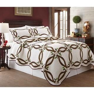 Lenox Holiday Nouveau 100 Percent Cotton 3 Piece Quilt Sets