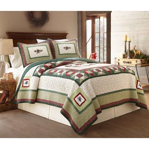 Lenox Winter Greetings 100 Percent Cotton 3 Piece Quilt Sets