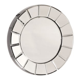 Allan Andrews Dina Small Round Accent Mirror - Chrome