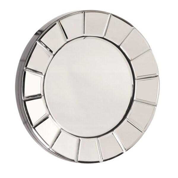 Allan Andrews Dina Small Round Accent Mirror - Chrome