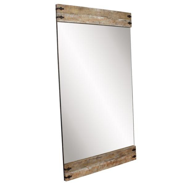 Allan Andrews Garrett Brown Wood Floor Mirror - Oak - A/N