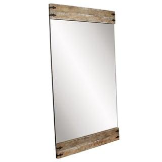 Allan Andrews Garrett Brown Wood Floor Mirror