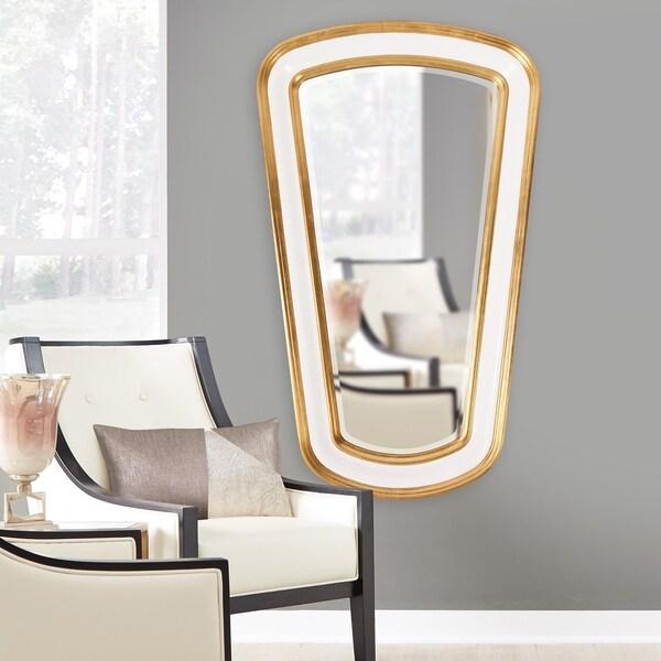 Allan Andrews Darius White Tapered Mirror - A/N