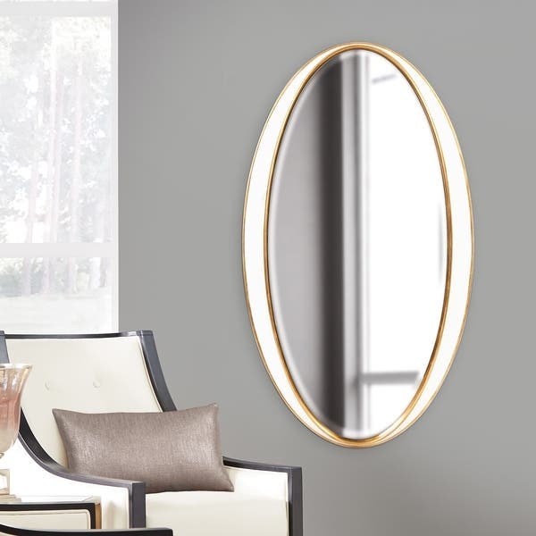 Shop Allan Andrews Rania Oversized Oval Wall Mirror White Overstock 18097272