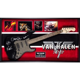 Van Halen Signed Guitar Jump Custom Framed