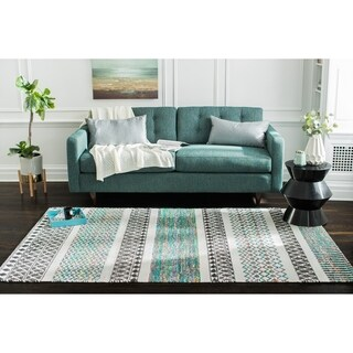 Jani Diego Flatweave Multi Color Recycled Materials Rug (5' x 8')