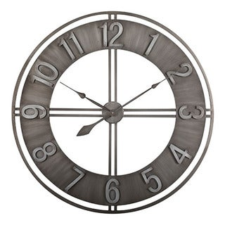 "Offex Home 30"" Industrial Loft Wall Clock in Metal"