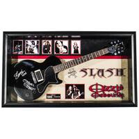 Slash & Ozzy Osbourne Signed Guitar Custom Framed