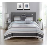 Sabrina Cotton Printed Comforter Set in Blue & Grey