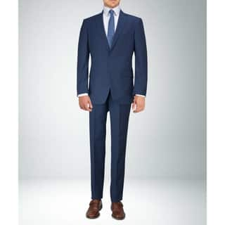Carlo Studio Navy Blue Plaid Suit|https://ak1.ostkcdn.com/images/products/18097372/P24254987.jpg?impolicy=medium