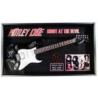 Motley Crue Signed Guitar Shout at the Devil Custom Framed