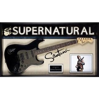 Carlos Santana Signed Guitar Supernatural Custom Framed