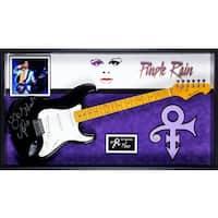 Prince Purple Rain Signed Guitar Custom Framed